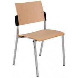 Alba Konferenční židle Square dřevěná