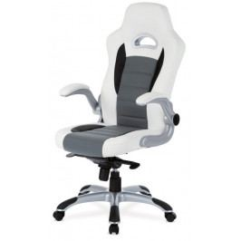 Autronic Kancelářská židle KA-E240B WT - bílá/šedá