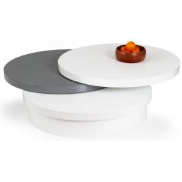 Halmar Konferenční stolek Michelle - bílá/šedá