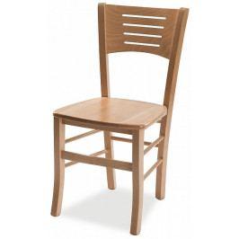 MIKO Dřevěná židle Atala masiv Bílá