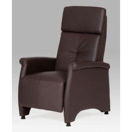 Autronic Relaxační křeslo TV-8135 BR - koženka tmavě hnědá