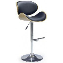 Halmar Barová židle H-44 Světlý dub/černá