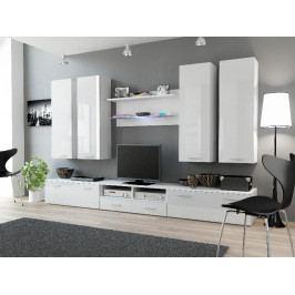 Cama Obývací stěna DREAM III - bílá/bílá