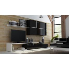 Cama Obývací stěna GOYA - černá/černá/bílá