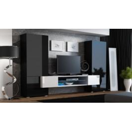 Cama Obývací stěna TORI - černý/černý/bílá