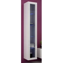 Cama Vitrína VIGO vysoká, prosklené dveře - bílá