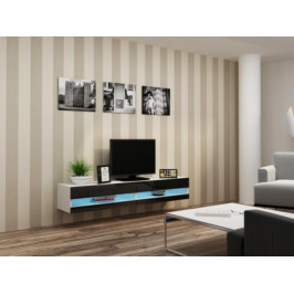 Cama Televizní stolek VIGO New 180 - bílá/černá