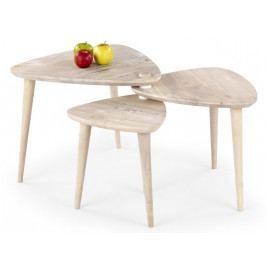 Halmar Konferenční stolek Corsica - white wash