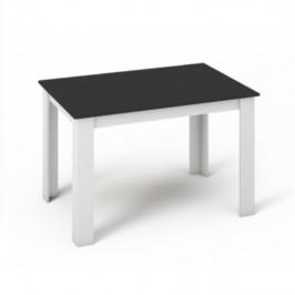Tempo Kondela Jídelní stůl KRAZ 120x80 - Bílá / Černá