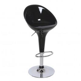 Tempo Kondela Barová židle ALBA NOVA - chrom / černá