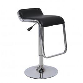 Tempo Kondela Barová židle ILANA - černá ekokůže / chrom,