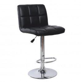 Tempo Kondela Barová židle KANDY - černá ekokůže / chrom
