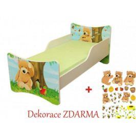 Forclaire Dětská postel Medvídek postel bez úložného prostoru 160x70cm