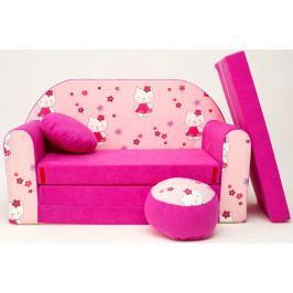 Forclaire Dětská pohovka Hello Kitty