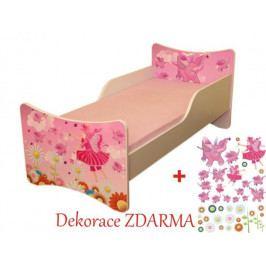 Forclaire Dětská postel Víly bez úložného prostoru 140x70cm