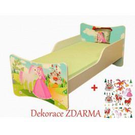 Forclaire Dětská postel Princezna postel bez úložného prostoru140x70cm