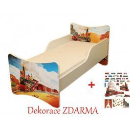 Forclaire Dětska postel Vláček postel bez úložného prostoru160x90cm