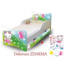Forclaire Dětská postel Kočička 180x80 bez úložného prostoru