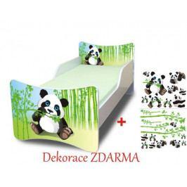 Forclaire Dětská postel Panda postel bez úložného prostoru140x70cm