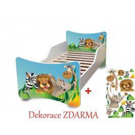 Forclaire Dětská postel Zoo postel bez úložného prostoru140x70cm