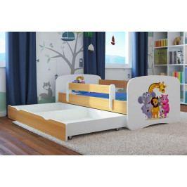 Forclaire Dětská postel se zábranou Ourbaby - ZOO III postel 160 x 70 cm