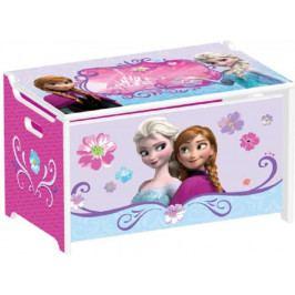 Forclaire Dětská dřevěná truhla na hračky Frozen