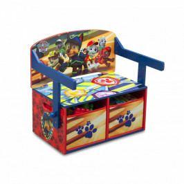 Forclaire Dětská lavice s úložným prostorem Tlapková patrola