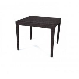 Dimenza Zahradní jídelní stůl Dallas 90x90 cm - hnědý