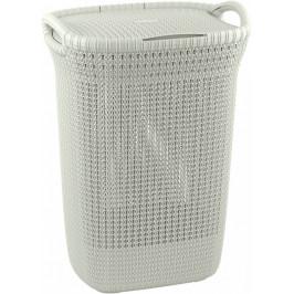 Curver Koš na prádlo KNIT 57L - krémový