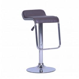 Tempo Kondela Barová židle ILANA - hnědá ekokůže / chrom