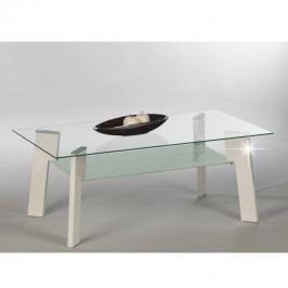 Tempo Kondela Konferenční stolek ADELO - bílá + sklo