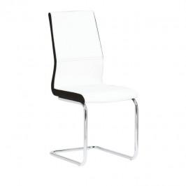 Tempo Kondela Židle NEANA - ekokůže bílá / černá