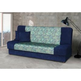 Falco Pohovka Marry - modrá/zelený vzor