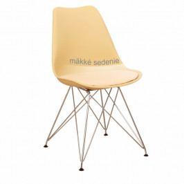 Tempo Kondela Židle METAL - béžová cappuccino