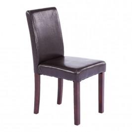 Tempo Kondela Jídelní židle VIVA NEW - tmavý ořech / ekokůže tmavě hnědá