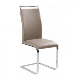 Tempo Kondela Jídelní židle BARNA NEW - světlešedá ekokůže