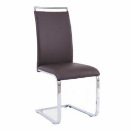 Tempo Kondela Jídelní židle BARNA NEW - tmavohnědá ekokůže
