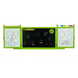 Forclaire Dětská magnetická/křídová tabule na stěnu - zelená