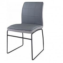 Tempo Kondela Jídelní židle DEVORA - šedá ekokůže