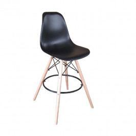 Tempo Kondela Barová židle CARBRY - černá/kov