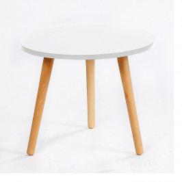 Tempo Kondela Příruční stolek Bazzy 3 - bíla / natural