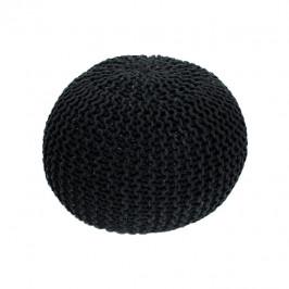 Tempo Kondela Pletený taburet GOBI TYP 1 - černá bavlna