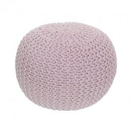 Tempo Kondela Pletený taburet GOBI TYP 1 - pudrová růžová bavlna