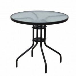 Tempo Kondela Stůl BORGEN TYP 2 - černá ocel / temperované sklo