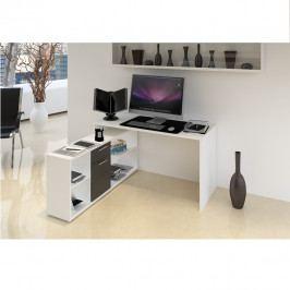 Tempo Kondela PC stůl NOE NEW - bílá / černá