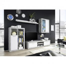 Tempo Kondela Obývací stěna KLARK - bílá / beton