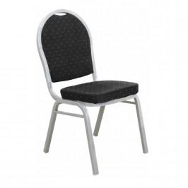 Tempo Kondela Jednací židle JEFF 2 NEW - látka černá / rám šedý