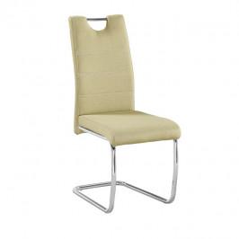 Tempo Kondela Jídelní židle ABIRA NEW - látka zelená / chrom