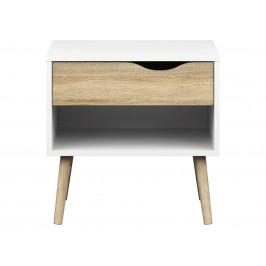 Falco Noční stolek Retro 394 bílá/dub