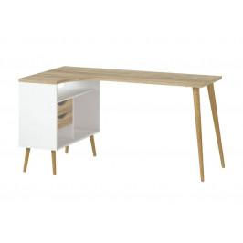 Falco Rohový psací stůl Retro 450 - bílá/dub